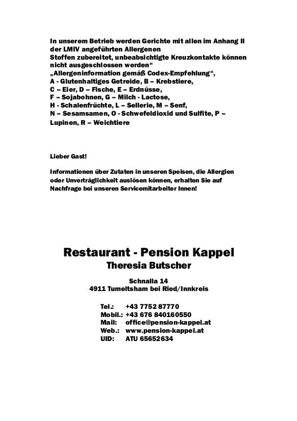 Speisekarte Kappel - Seite 10
