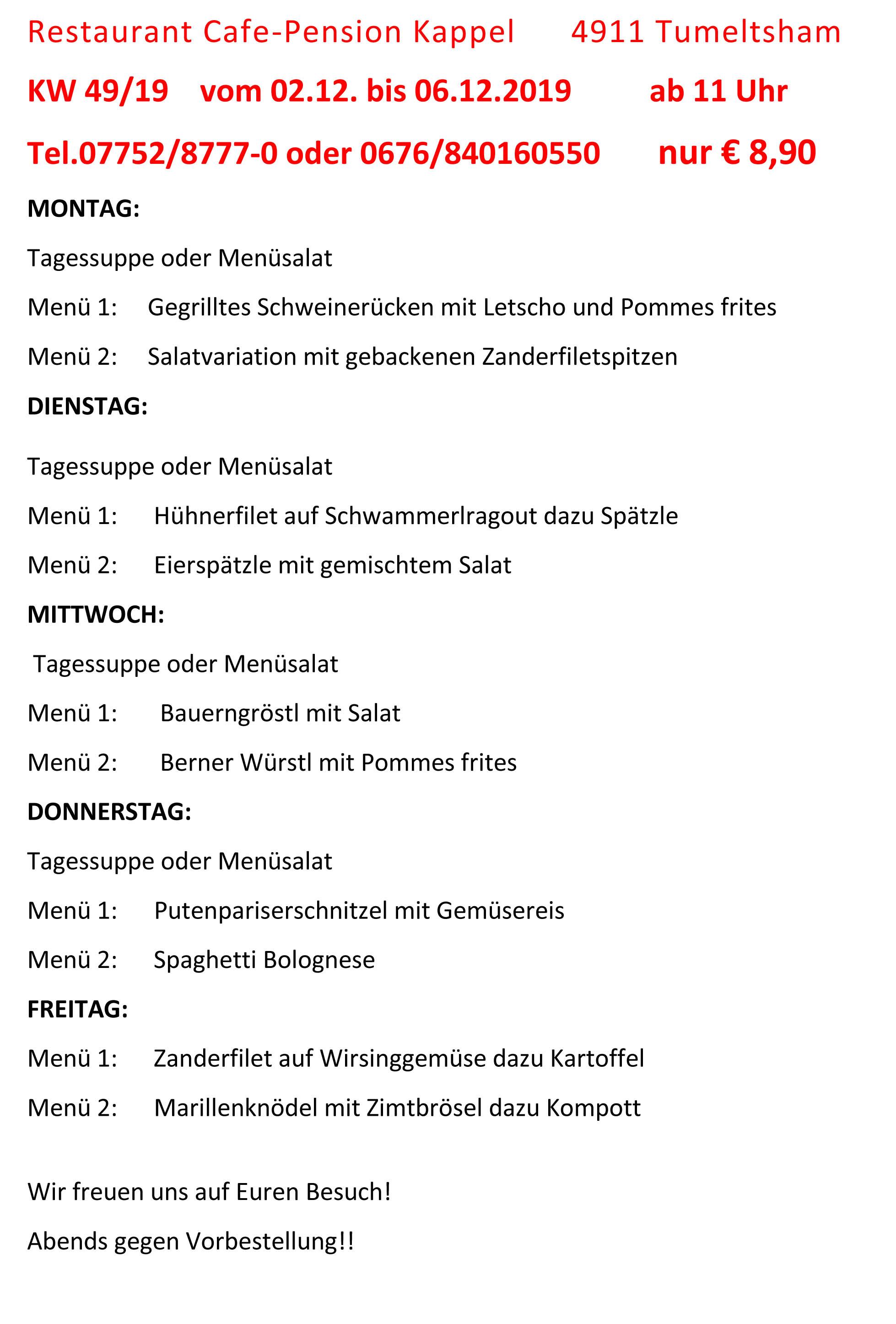 Menüplan KW 49-19 (1)